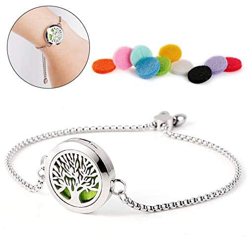 Stainless Steel Link Essential Oil Bracelet