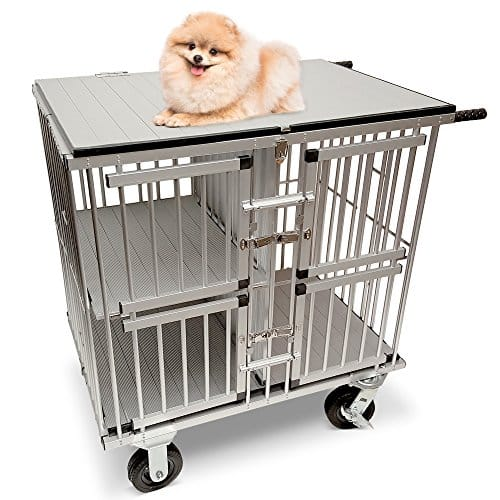MiMu Dog Show Trolley – Pet Trolly, Collapsible Dog Crate Dolly