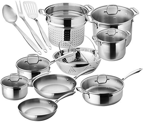 Chef's Star 17-Piece Pots & Pans Stainless Steel