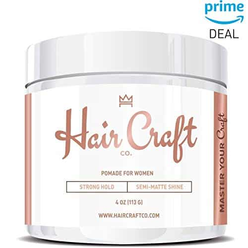 Hair Craft Co. Semi-Matte Finish Women's Firm Hold Styling Gel/Pomade