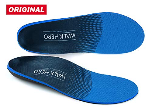 Plantar Fasciitis Feet Insoles Arch Supports Orthotics Inserts Relieve Flat Feet, High Arch, Foot Pain by WalkHero