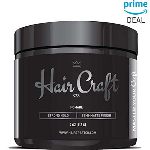 Hair Craft Co. Pomade Semi-Matte Finish Men's Strong Hold Styling Gel