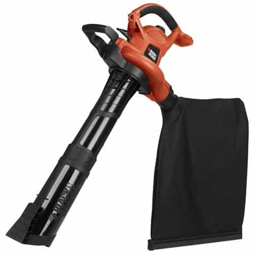 BLACK+DECKER 3-in-1 Electric Leaf Blower, Leaf Vacuum, Mulcher, 12-Amp