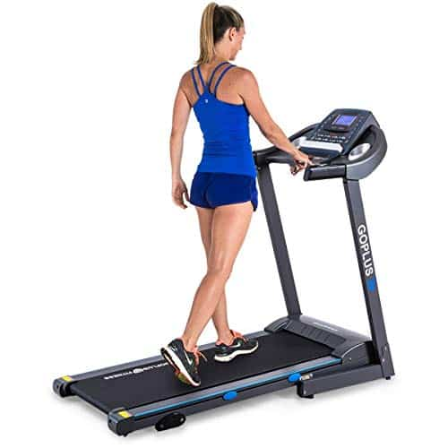 Goplus 2.25HP Electric Folding Treadmill with Incline