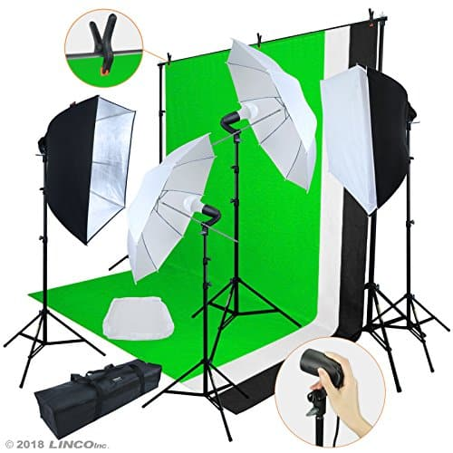 Linco Lincostore LED 3200 Lumens Photo Video Studio Light Kit