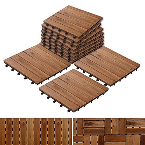 Acacia Wood Tile Flooring, Patio Pavers & Composite Decking | Interlocking Patio Tiles for Outdoor & Indoor