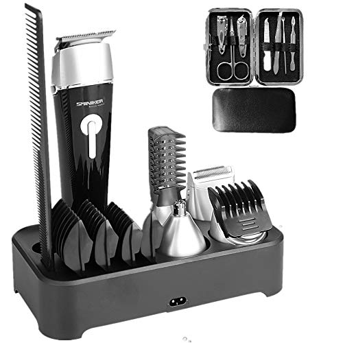 Sminiker Professional 5 in 1 Multi-functional Waterproof Man's Grooming Kit