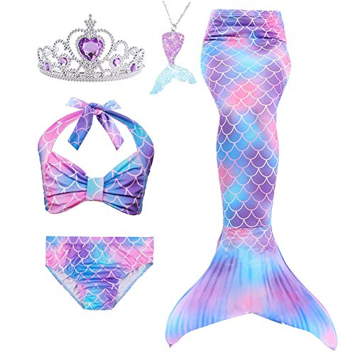 5PCs Girls Swimsuit Mermaid Tails for Swimming by Lovely Mermaid