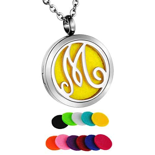 HooAMI Monogram Aromatherapy Essential Oil Diffuser Necklace