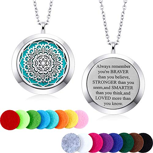 Mtlee Aromatherapy Essential Oil Diffuser Necklace