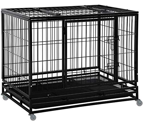 BestPet Dog Crate Cage for Large Dogs