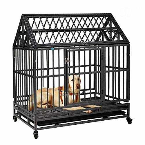 COZIWOW Heavy-Duty Large Dog Pets Kennel Cage Crate