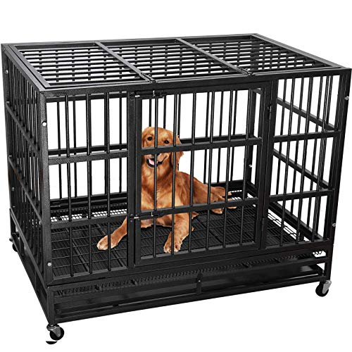 Lemberi Heavy Duty Dog Cage Crate